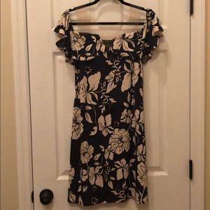 Liverpool size 6 Hibiscus print dress